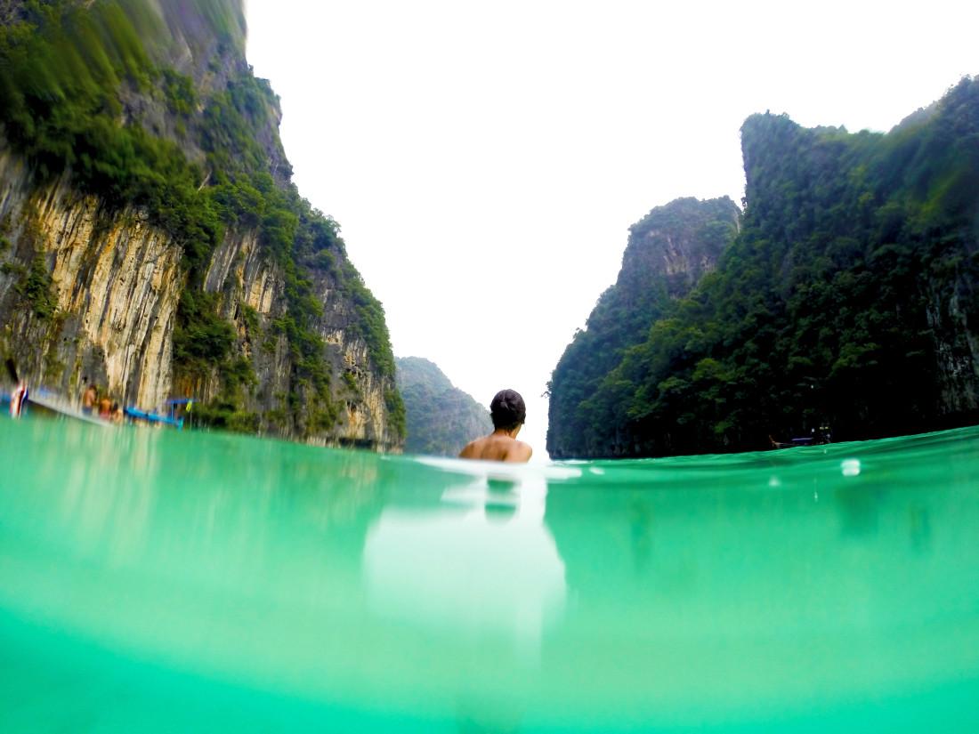 koh phi phi thailand swimming
